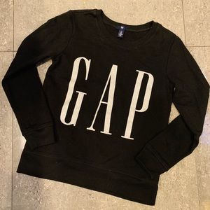 Sweaters - Gap Black sweater with Silver Letters
